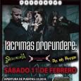 Lacrimas Profundere+ Pri oh Persia+ Skullmania+ Wetallica Cuándo: Sábado, 11 de febrero de 2012 Hora: De la(s) 22:30 a la(s) 3:00 Descripción Concierto en la sala Gamma de la […]