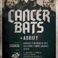 Selección de fotos realizadas en el concierto deCancer Bats+Adrift celebrado en la Sala Ritmo y Compás de Madrid el día 09/01/13 http://www.flickr.com/photos/robertofierro/sets/72157632487211955/