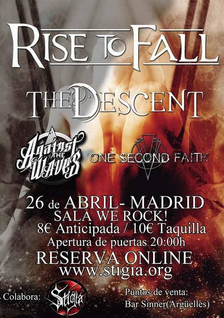 Rise to fall the descent against the waves one second for Sala we rock
