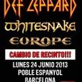 El concierto de Def Leppard + Whitesnake + Europe de Barcelona (Palau Olímpic de Badalona) cambia de recinto. El concierto se celebrará en el Poble Espanyol de Barcelona. En la […]