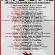 """30 AÑOS – 30 CONCIERTOS – 30 CANCIONES  Ya a la venta las entradas de ANIVERSARIO, la excepcional nueva gira de REINCIDENTES REINCIDENTES GIRA """"ANIVERSARIO"""" 30 AÑOS – 30 […]"""