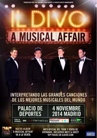 Il divo inician su gira il divo a musical affair - Il divo tickets ...