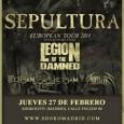 SEPULTURA + LEGION OF THE DAMNED + FLOTSAM & JETSAM + MORTILLERY Madrid Sala Shoko 27/02/14 De nuevo teníamos por España a una de las bandas que a mediados de […]