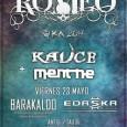 ROMEO continúa su gira 2014!! El próximo 23 de Mayo estará en SALA EDASKA de Barakaldo junto a las bandas KAUCE y MENTHE. Entrada Anticipada 6€ / Entrada Taquilla 8€ […]