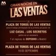 Concierto de Luz Casal, Los Secretos y Depedro en Las Ventas el próximo 18 de Septiembre