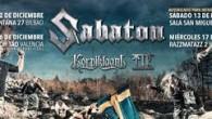 (CRONICA) Sabaton + Korpiklaani + TÿR – Santana 27 – Bilbao – 12/12/14 Imaginábamos de primeras un recinto medio pelado, para que engañarnos, pero ciertamente los Sabaton nos acabarían dando...