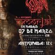 Costa presenta su albúm «Inmortal» Sala Shoko – 20.00h Calle Toledo, 86 Puntos de Venta: Grimey Store, Triburbana y ticketea.com Precio: 12€ / 15€