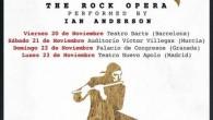 """Ian Anderson nos presentará """"Jethro Tull: The Rock Opera"""" en ni más ni menos que cuatro fechas por la península. Estos espectáculos se presentan con el repertorio completo deJethro Tull...."""