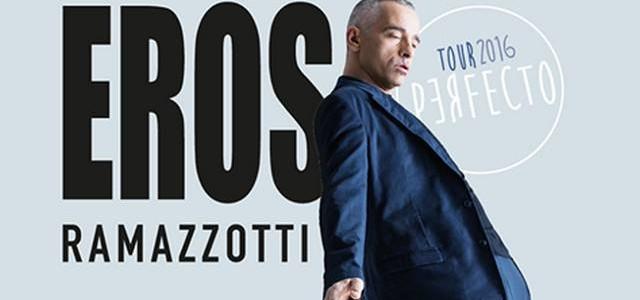 """El italiano Eros Ramazzotti llegará a España el próximo mes de febrero con su gira """"Perfecto World Tour"""", en la que ofrecerá 3 conciertos: 14/2 Barcelona, 21:00h en el Palau […]"""
