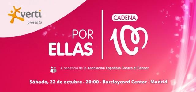 Sold Out!! El concierto #PorEllas de @CADENA100 ha agotado todas sus entradas. ¡Nos vemos el 22 de octubre por una buena causa!
