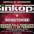 SÍNKOPE Daráun concierto especial por su 25 aniversario el 17 de febrero en la sala Penélope de Madrid Sínkope vuelven a Madrid. Año y medio después de grabar su histórico […]