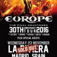 Con todas la entradas agotadas en Madrid regresa Europe a España, todavia quedan entradas para el concierto de Barcelona date prisa y no te quedes sin ellas!!! MARTES 22 DE […]