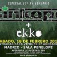 SÍNKOPE Agota todas las entradas para su concierto 25 aniversario en Madrid y lo amplia con nueva fecha Viernes 17 febrero ¡agotado! Sábado 18 de febrero + Ekko Sínkope vuelven […]