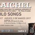 IDAN RAICHEL presenta Piano – Songs  1 DE MARZO –SALA GALILEO(MADRID) C/ de Galileo, 100 Puertas: 20.30h – Inicio: 21.30h Link venta entradas – Aquí 2 DE MARZO –SALA […]
