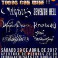 El 29 de abril en la Sala Garaje Beat Club de Murcia se celebraráelMetal Woman Fest IIorganizado porAndy Management. Nos presentan el cartel completo: Seventh Hell,WonderOnce, Annysia, Oblivion's Garden,Knabulu&Gloria and […]