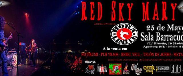 Grupos: Red Sky Mary (USA) HORA LIMITE (España) Sala: Barracudas (C/ Brescia nº19, Madrid) Día: 25/05/2017 Apertura de puertas: 21:00 El precio de las entradas es: 10,00€ anticipada (más gastos […]
