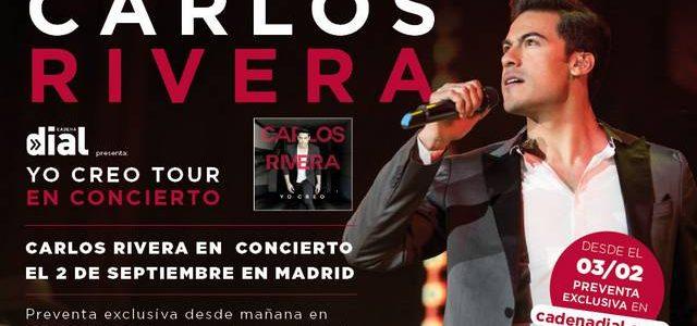 CARLOS RIVERA EN CONCIERTO EL 2 DE SEPTIEMBRE EN MADRID  Tal y como anunció el propio artista en sus redes sociales,Carlos Riveraactuará elsábado 2 de septiembreen elWiZink Center (antiguo […]