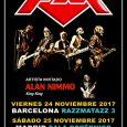 CAMBIO DE INVITADO ESPECIAL: La banda de AORregresaa Madrid el 25 de Noviembre acompañada por ALAN NIMMO (KING KING) El escocés Alan Nimmo, vocalista y cantante de la banda KING […]