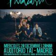 Paracusia grabarán su primer videoclip de directo el 20 de diciembre 20 Diciembre –Centro Universitario de Artes Tai– Madrid– Gratuito (solicitando entrada en el Facebook del grupo)El joven quinteto madrileñoParacusiagrabarán […]