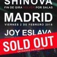 Shinova agota entradas dos meses antes para su concierto en la sala Joy Eslava de Madrid. SHINOVAanunció esta fecha hace dos semanas y en ese tiempo se han vendido todas […]
