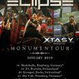 """En los próximos días, XTASY comenzarán su primera gira europea que les llevara a recorrer Alemania y Suiza acompañando a los suecos ECLIPSE dentro su gira """"Monumentour"""". La gira recorrerá […]"""