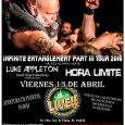 – Día 13 de Abril: Official Blaze Bayley + Luke Appleton + HORA LIMITE – La Sala Live (Madrid) Evento en Facebook, para más información: https://www.facebook.com/events/1192257407540858/