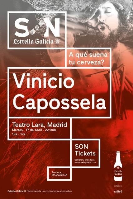 Cartel Vinicio Capossela (Madrid) - SON Estrella Galicia
