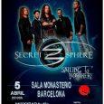 """Secret Sphere en Barcelona este jueves 5 de abril Gira para presentar su nuevo álbum """"The Nature Of Time"""" Los amantes del Power Metal sinfónico están de enhorabuena, este próximo […]"""