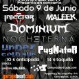 Injector, Maleek, Dominium, Nocheterna, Under Cold Sun y PugNatoR en concierto en Murcia el 9 de Junio Hace apenas unos días, anunciamos el próximo concierto organizado porObscuraManagement, donde contamos conINJECTORpara […]