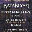 KATAKLYSM + HYPOCRISY  + MIÉRCOLES –31/10/2018 19:00 SALA MON LIVE MADRID ROCKNROCK TICKETMASTER + JUEVES –01/11/2018 19:00 RAZZMATAZZ 2 BARCELONA ROCKNROCK TICKETMASTER KATAKLYSM + HYPOCRISY ACTUARÁN EN MADRID Y […]