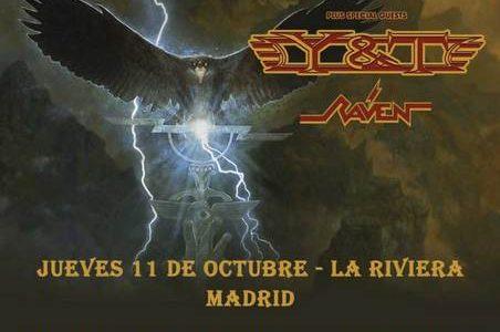 SAXON + Y&T + RAVEN + JUEVES –11/10/2018 19:00 LA RIVIERA MADRID ROCKNROCK TICKETMASTER + VIERNES –12/10/2018 19:00 SALA SANTANA 27 BILBAO ROCKNROCK TICKETMASTER + SÁBADO –13/10/2018 19:00 RAZZMATAZZ BARCELONA […]