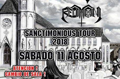 "ATTIC ""Sanctimonious Tour 2018"" + REDIMONI Sábado 11 de Agosto 2018 Sala Silikona 20:00 h. Anticipada : 15 €(precio final, SIN GASTOS) Taquilla: 18 € Todos los menores de 16 […]"