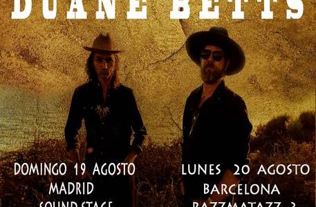 THE DEVON ALLMAN PROJECT AND DUANE BETTS  DOMINGO · 19 AGOSTO · 2018 MADRID · SOUND STAGE Cuando eres parte de una dinastía musical, es natural que lo personal y […]