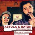 Escenario Eslava presenta a Astola & Ratón Astola & Ratón nos visitan el próximo 15 de marzo con un concierto muy especial donde presentan su disco conjunto, «El Hombre Caracol». […]