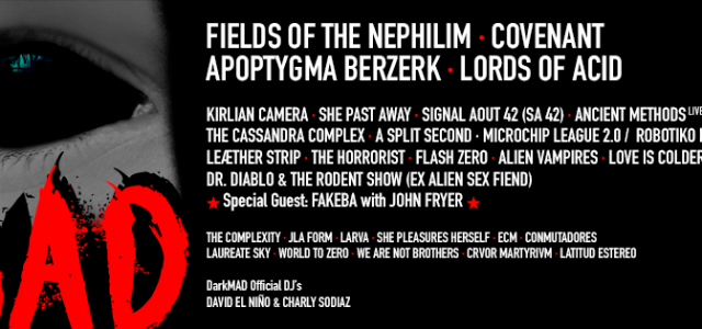 DARKMAD 2019 DESVELA SU CARTEL TRAS LA LLUVIA IRRUMPE LA TORMENTA OSCURA Y PERFECTA Fields of the Nephilim, Covenant, Apoptyma Berzerk, Kirlian Camera, Ancient Methods (Live), Alien Vampires, The Horrorist, […]