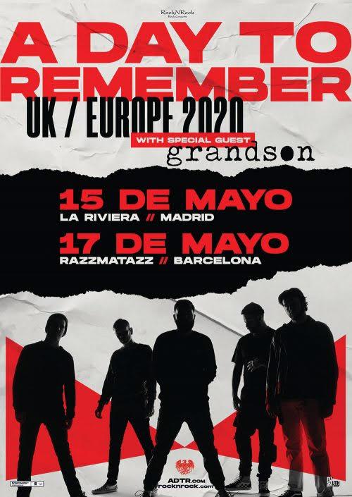 La banda norteamericana de metalcore, A DAY TO REMEMBER actuará en la sala La Riviera de Madrid el viernes 15 de mayo, y en la sala Razzmatazz de Barcelona el […]